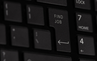keyboard with Find Job words