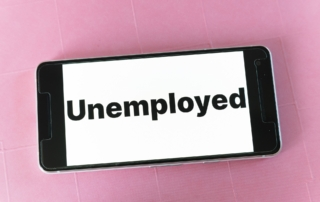 phone with word unemployment